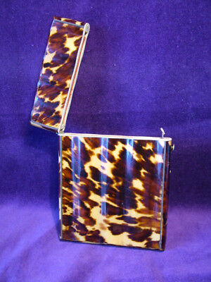 Collectable antique Victorian faux tortoiseshell superb calling card case