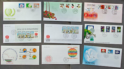 Singapore: Nine assorted First Day Covers (#30)