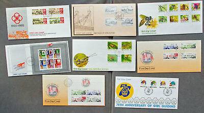 Singapore: Eight assorted First Day Covers (#31)