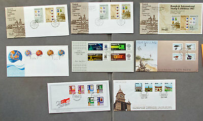 Singapore: Eight assorted First Day Covers (#32)