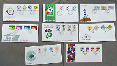 Singapore: Eight assorted First Day Covers (#33)
