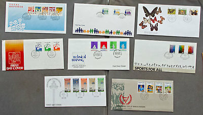 Singapore: Eight assorted First Day Covers (#34)