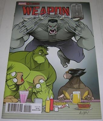 WEAPON H #1 GUSTAVO DUARTE VARIANT COVER (Marvel 2018) HULK & WOLVERINE (VF-)