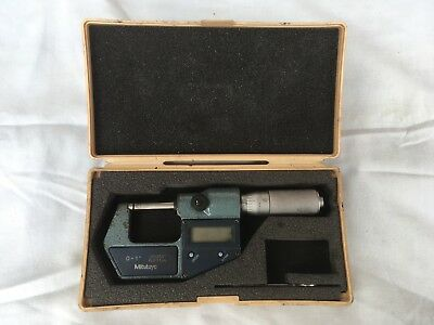 "'MITUTOYO' DIGIMATIC MICROMETER 0-1""/25.4mm No: 293-766-30 + CASE     (3344)"