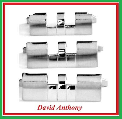 For JUBILEE WATCH BRACELET STRAIGHT ENDS (2) 18mm 20mm or 22mm  Stainless Steel