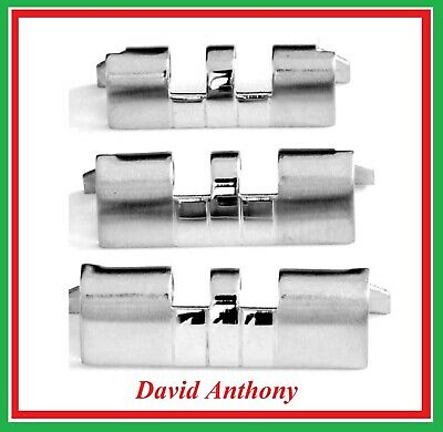 JUBILEE WATCH BRACELET STRAIGHT ENDS (2) 18mm 20mm or 22mm  Stainless Steel