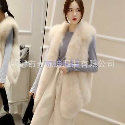 Womens Chic Faux Fur Sleeveless Coat Solid Slim Vest Winter Waistcoat Casual Hot