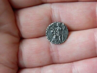 Tiny Un Researched Roman silver siliqua coin Emperor ?? metal detecting detector