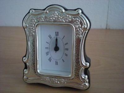 SOLID STERLING SILVER TABLE ALARM CLOCK 4×6 *85 GB new