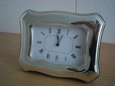SOLID STERLING SILVER TABLE ALARM CLOCK 9×13*1002GB new