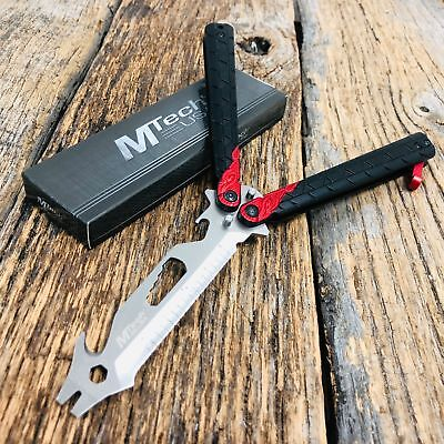 High Quality Practice BALISONG METAL BUTTERFLY BOTTLE OPENER Trainer Knife BR m