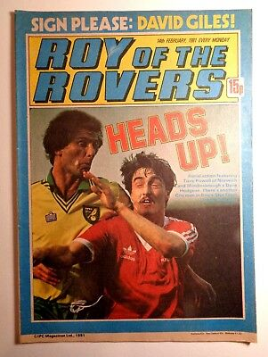 Roy Of The Rovers Comic 14th February 1981 Football Fleetway IPC Magazines