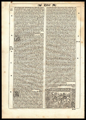 1539 Latin Bible Leaf 1st Kings Chapter 5-10 Samuel Pours Olive Oil on Saul
