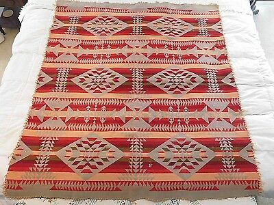 Antique Native American Blanket Geometeric Designs