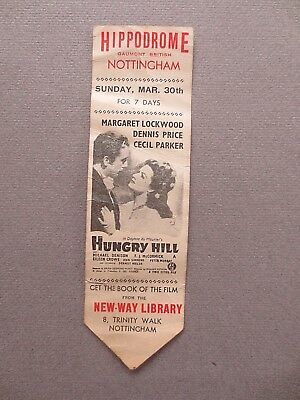 BOOKMARK FILM Promo 1947 Hippodrome Nottingham Hungry Hill Margaret Lockwood