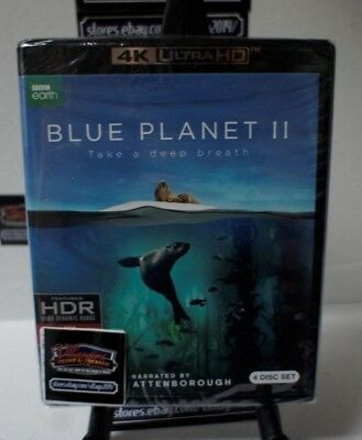 Blue Planet II   NEW 4K Ultra HD UHD With Blu-Ray FREE SHIPPING!!