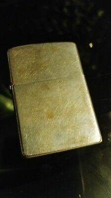 1969 Zippo Lighter plain with brushed chrome finish used old zip no box