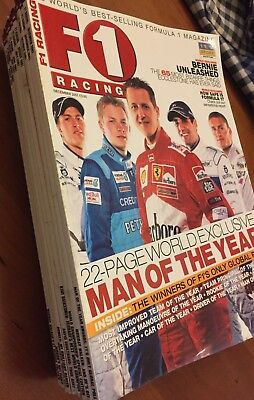 F1 RACING Magazine- Complete 2001 Issues, 12 Copies, VGC, Rare