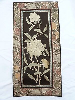Antique Chinese Silk Embroidery Embroidered Textile Panel Rank Badge No2.