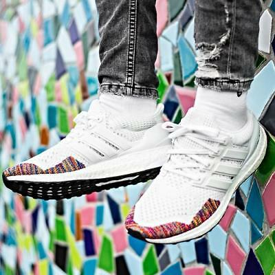 9c767440c1b7e ADIDAS ULTRA BOOST 1.0 LTD Rainbow Multi White Size 7 8 9 10 11 12 ...