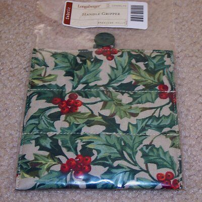 Longaberger American Holly HANDLE GRIPPER Button-Style ~ New in Original Bag!