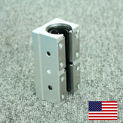 US Stock SBR20LUU 20mm Router Motion Bearing Block Unit  For CNC 3D Printer