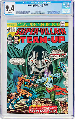 Super-Villain Team-Up #1, CGC NM 9.4, White Pages, Slayers From The Sea!
