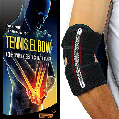 Elbow Brace Support Sleeve-ElasticBreathable Fabric-Adjustable Compression Strap