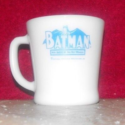 Great Vintage 1960's Anchor Hocking Fire King Blue Batman Mug/Cup Made in USA