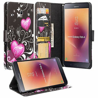 For Samsung Galaxy Tab A 8.0 inch SM-T350 Hybrid Leather Wallet Stand Case Cover