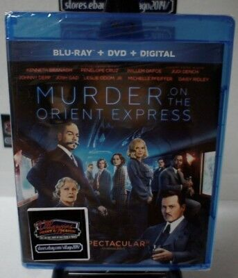 Murder on the Orient Express (Blu-ray/DVD, 2018, 2-Disc Set) NEW FREE SHIPPING!!