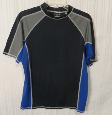 Land's End Boys Swim Shirt Rash Guard UPF Sun Protection Sz. 18-20 XL