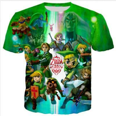 Game The Legend Of Zelda 3D print women/mens Short Sleeve T-Shirt Casual Tops