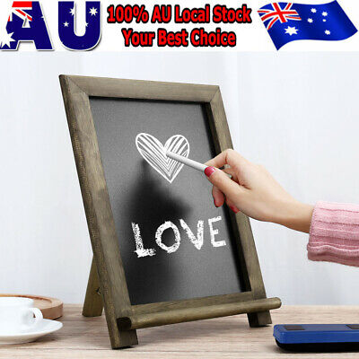 Chalkboard Blackboard Blank Easel Frame Rustic Decoration Party Cafe AU Seller