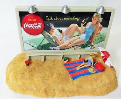 Coca Cola Summer Billboard Light-Up Musical Bank -1943 Cc Image-1996 New In Box