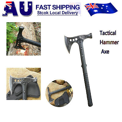 Steel Multi-functional Axe with Hammerhead Outdoor Survival Camping Tool Hatchet
