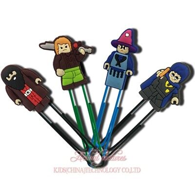 20pcs Lego Harry Potter Paper Clips Bookmarks DIY Office School Clips Binder Kid