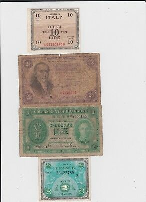 World Paper Money Collection  16 old notes lower grade and up