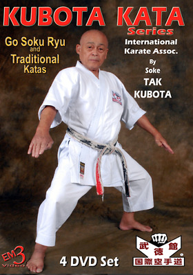 KUBOTA KATA SERIES - 4 DVD SET by Soke Tak Kubota - IKA KARATE