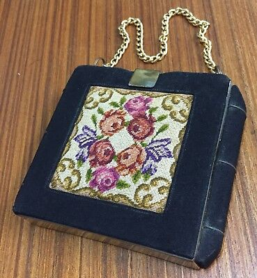 Vintage Tapestry Cosmetic Purse