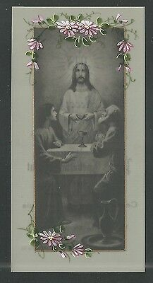 Estampa de Celuloide antigua de Jesus  pieuse  santino holy card