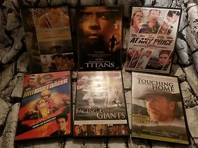 6 DVD's -True Story -SPORTS MOVIES -DVD Lot -Unbroken, Remember the Titans
