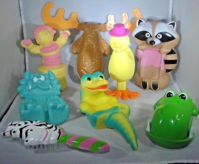 8 Avon Child Bath Accessories Toys Collectible Vintage Display 1970s Empty EUC