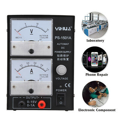 YIHUA 1501A 15V 1A 110V/220V Precision Variable Regulator DC Power Supply Test