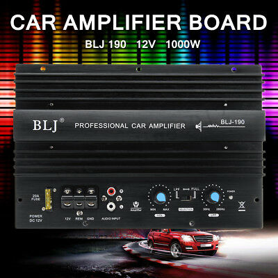 12V 1000W Mono Car Audio High Power Amplifier Amp Board Powerful Bass Subwoofer