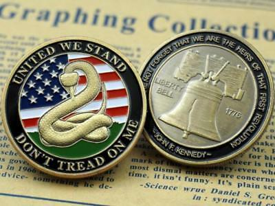 Don't Tread on Me - Liberty Bell / United We Stand Challenge Coin Collection