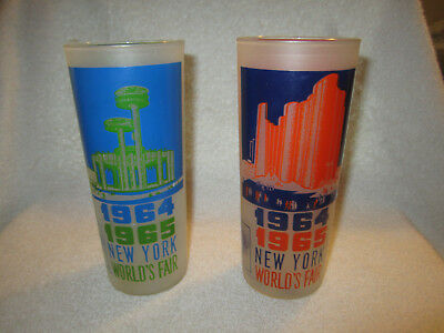 Vintage New York Worlds Fair Glass 1964-1965 Hall Of Science NY State Exhibit