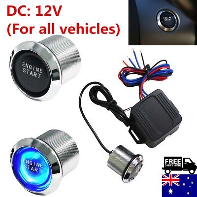 Blue LED  Car Engine Start Push Button Switch Ignition Starter Touch Universal