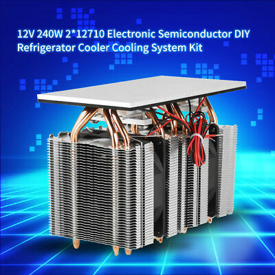 240W 12V 2*12710 Electronic Semiconductor DIY Refrigerator Cooler Cooling System