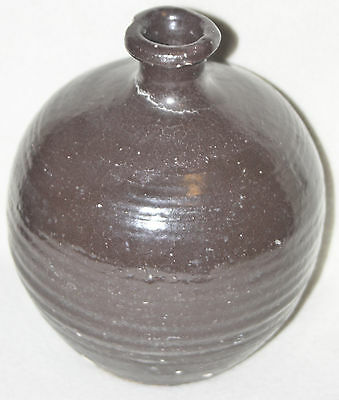 Chinese 14th-15th Century Dark Brown Glaze Large Rounded Body Small Neck Jar